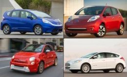 Ford Focus Electric - Nissan Leaf - Honda Fit EV
